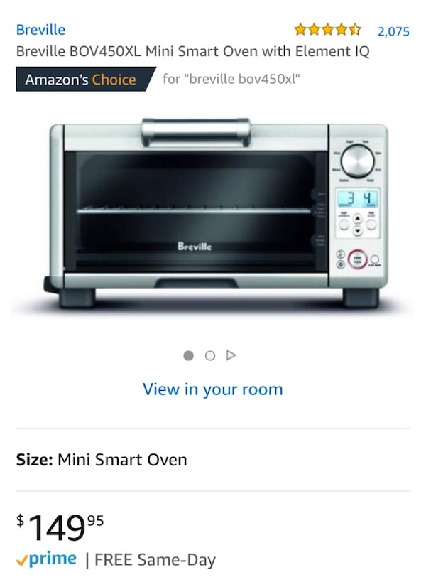 Breville Bov450xl Mini Smart Oven With Element Iq