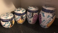 white, blue, pink, and yellow ceramic canisters set Alexandria, 22314