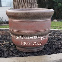 Brown and red clay pot Bakersfield, 93311