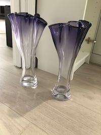 Clear and purple vase Surrey, V3R 9B5