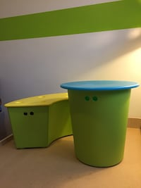IKEA kids storage bench and table with lids Mississauga, L5C 1M5