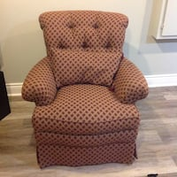 Red and gold patterned Thomasville Chair Dollard-Des Ormeaux, H9B 3B4