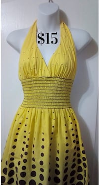 Yellow Summer Halter Dress: Youth Size 9/10 Toronto, M6G