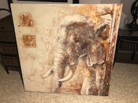 Large elephant painting  Toronto, M1S