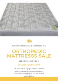 BRAND NEW ORTHOPEDIC MATTRESS STARTING $145 Toronto