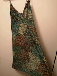 green and brown floral sleeveless dress Winnipeg, R2W