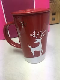 DAVID's tea reindeer Christmas mug. North Vancouver, V7P 3E7