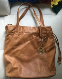 brMichael Kors camel/chestnut leather hobo bag