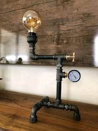 Industrial Pipe Steampunk Table Desk Lamp Coventry, CV3 1FF