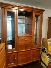 brown wooden framed glass display cabinet Laval, H7P 5T5