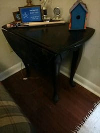 black wooden table with black metal base Connelly Springs, 28612
