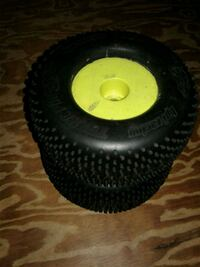 RC 2 NEW HPI RACING TERRA PIN TIRES ON USED PROLINE WHEELS $50