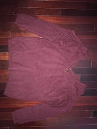 Women's burgundy sweater with cutout shoulders.  Whitby, L1P 1T6