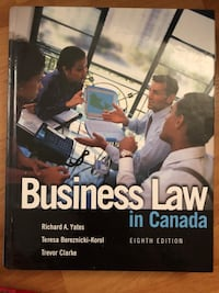 Business Law in Canada - 8th Edition London, N5V