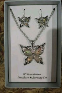 Silver and Abalone Butterfly Necklace & Earring San Diego, 92119