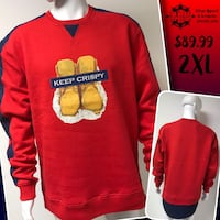 KEEP CRISPY designer crewnecks available  Winnipeg, R2L 0K1