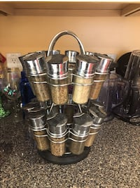 Black and gray metal containers spice rack. Also good for other arts & crafts University Park, 20782