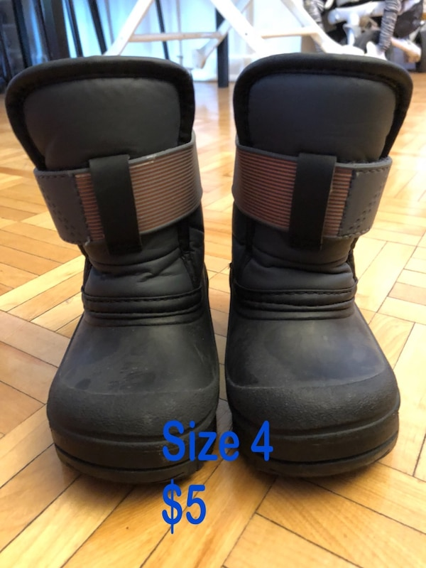 pair of black-and-brown boots