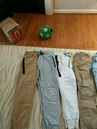 four assorted color pants and pants Ashburn, 20148