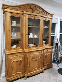brown wooden china cabinet with cabinet Great Falls, 59404
