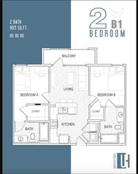 1 bed 1 bath available in 2 bed 2 bath apartment Fullerton