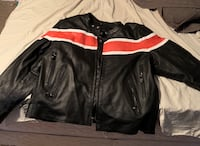 black and white leather zip-up jacket Mobile, 36695