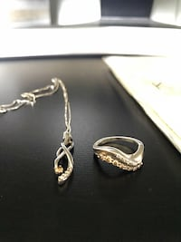 Champagne diamond ring and necklace Lorton, 22079
