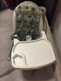 Baby's white and green high chair Cambridge