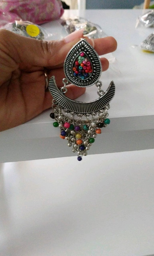 New earings. Big sized. Jhumka 1695e85d-2c08-4a9c-9b73-0137c50f8061