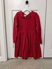 Girls designer knit dress by Olive Juice; size 7 y Sterling, 20166