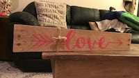 Love brown wooden quote canvas South Jordan, 84009