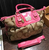 pink and gray Coach tote bag Barrie, L4N 5G8