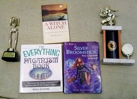 Witch/Pagan Books and Trophies