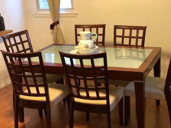 Prime Dark Brown Dining Room Set Table Chairs Curio Download Free Architecture Designs Sospemadebymaigaardcom