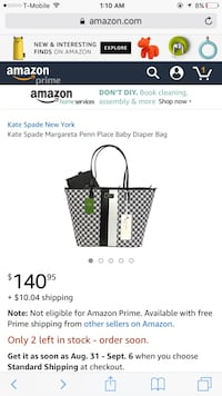 Brand new kate spade tote for $100.same one  sells at amazon for $140 brand new matching wallet for  $70 Herndon, 20171