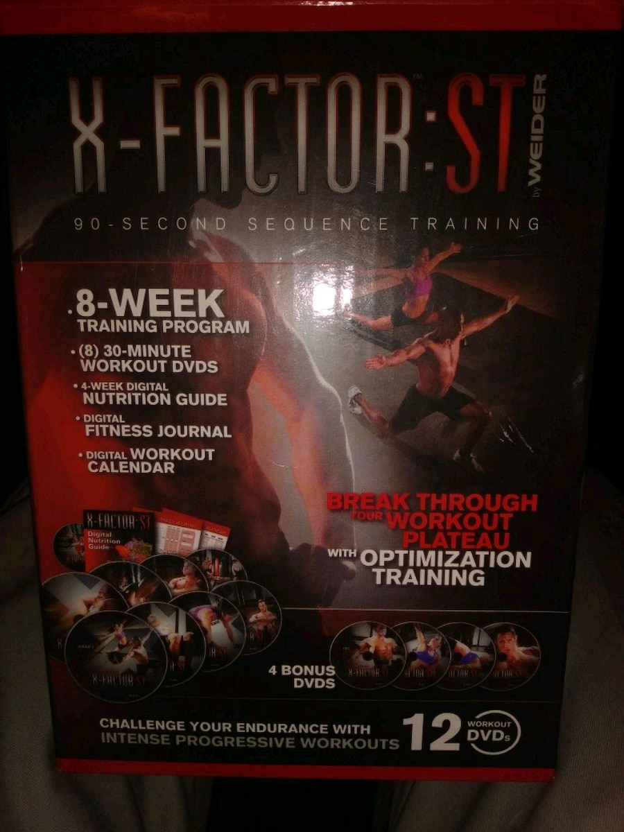 Photo X FACTOR 8 WK TRAINING DVDS