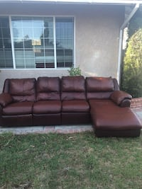 brown leather 3-seat recliner sofa Torrance, 90504
