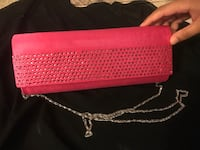 pink and black leather wristlet Glendale Heights, 60139