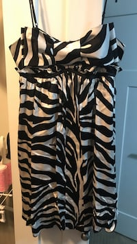 Betsey johnson zebra print dress
