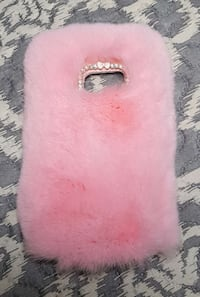 Fur/Rhinestone Samsung Galaxy S7 phone case pink  Woodbridge, 22193