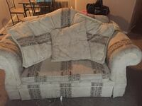 White and brown floral fabric sofa Union City, 30291