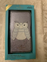 Kate Spade owl appliqué leather wrap folio iPhone 7/8 case Toronto, M6G 3E5