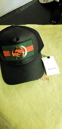 black Gucci leather cap with box Fresno, 93704