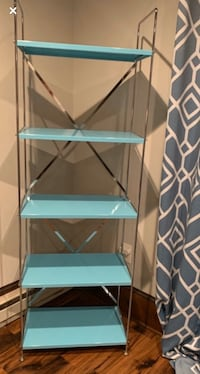 Teal Shelving Unit from Container Store
