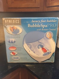 white and blue Homedics Body Basics Bubble Spa Pro with remote control box Bridgeport, 06606