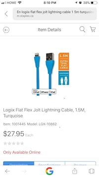 Logiix good faster Iphone Samsung cable Toronto, M1B 1T5