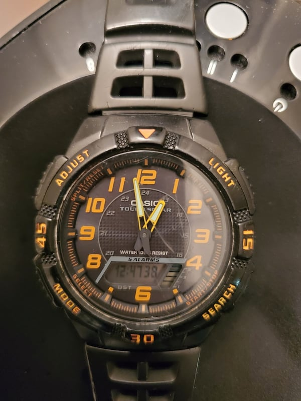 CASIO AQS800W-1B2V Tough Solar Ana-Digi Watch  0