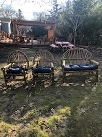 Outdoor furniture , twig, loveseat, and 2 chairs 285 mi