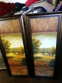 Set of 2 Country pictures 4 foot tall 1.5 foot wid