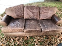 Arhaus leather sofa 52 km